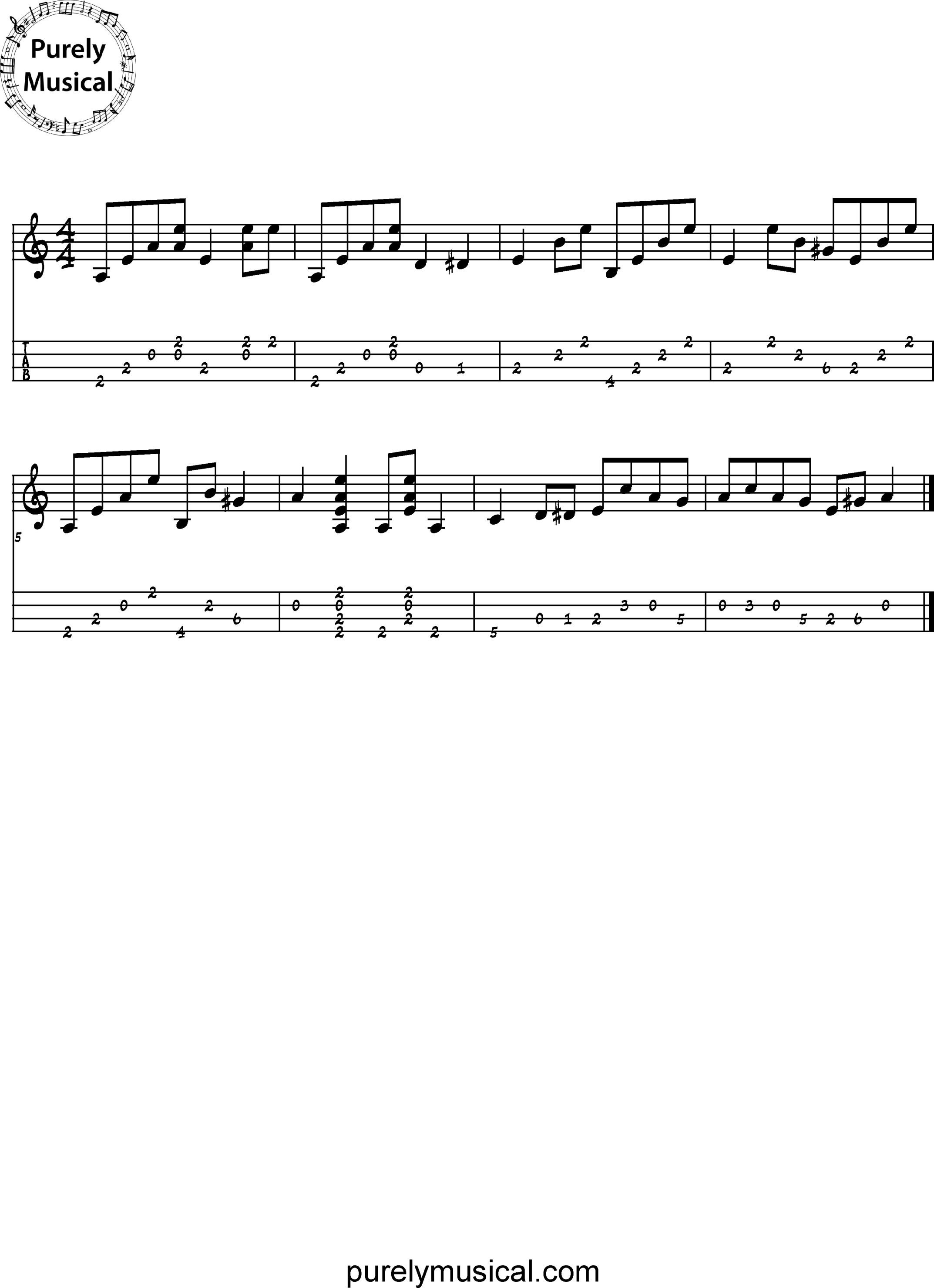 Advanced Tenor Rhythmic Accompaniment A Minor