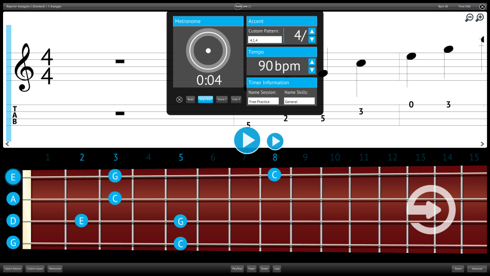 Purely Lute Screenshot Custom Metronome